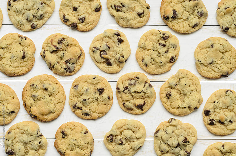 Homemade Chocolate Chip Cookies by Julie Rideout for Stocksy United