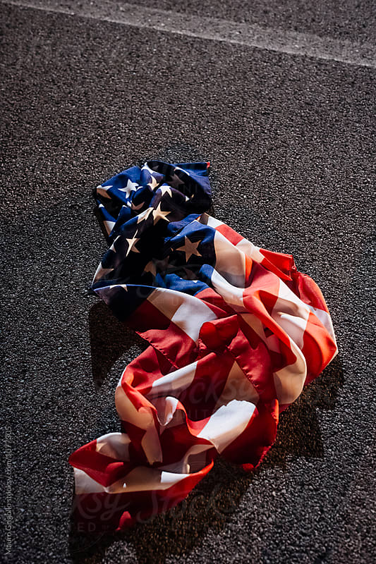 American Flag on the floor by Mauro Grigollo for Stocksy United