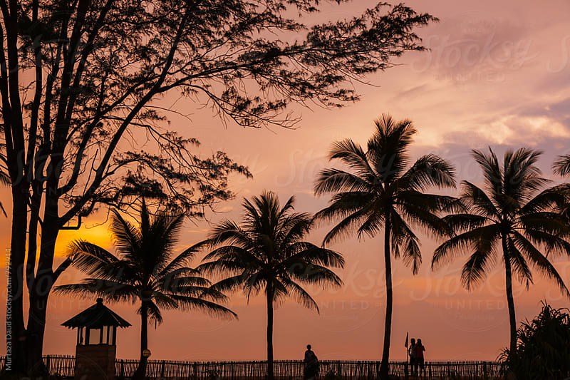 A tropical sunset in Sri Lanka by Murtaza Daud for Stocksy United