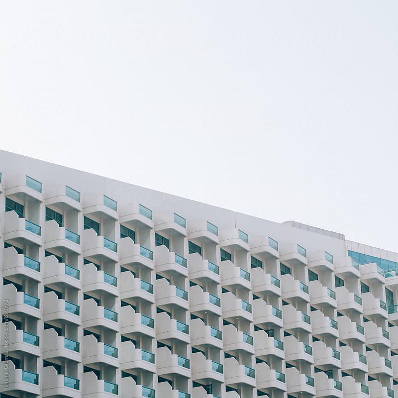 Abstract Facade of Hotel in Dubai by Nemanja Glumac for Stocksy United