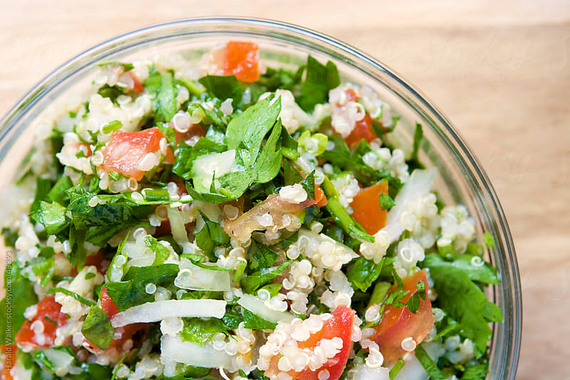 Quinoa Tabouli by Harald Walker for Stocksy United