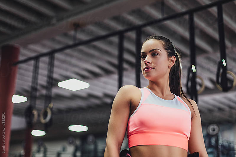 Portrait of a Woman in the Gym by Lumina for Stocksy United