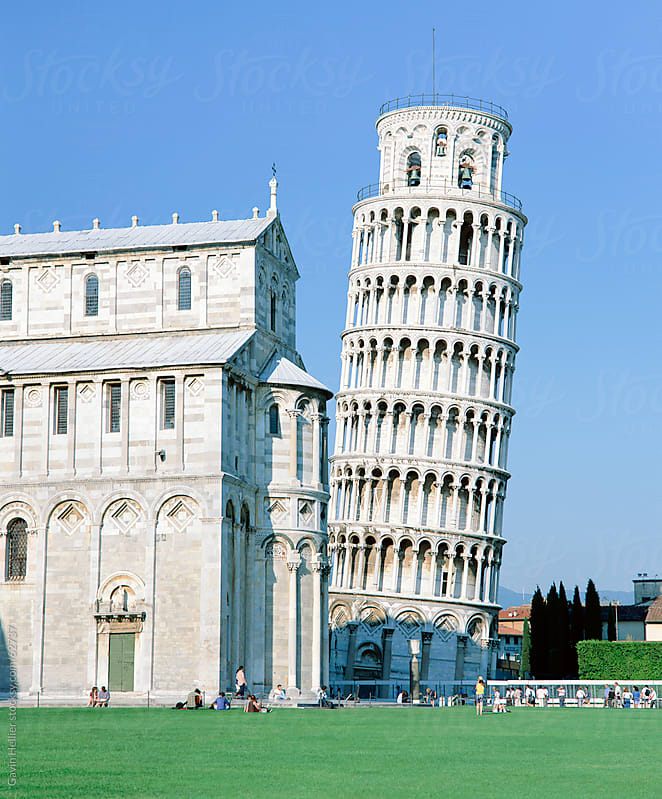 The Leaning Tower, Piazza del Miracoli, Pisa, Tuscany, Italy by Gavin Hellier for Stocksy United