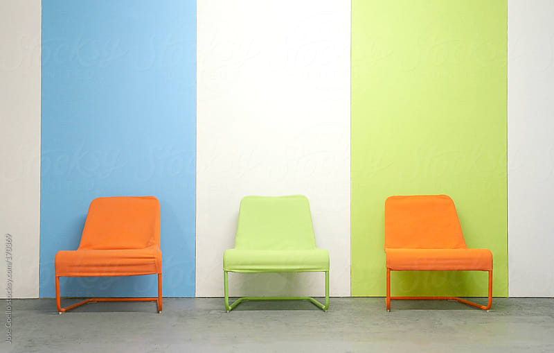 Color chairs by Jose Coello for Stocksy United
