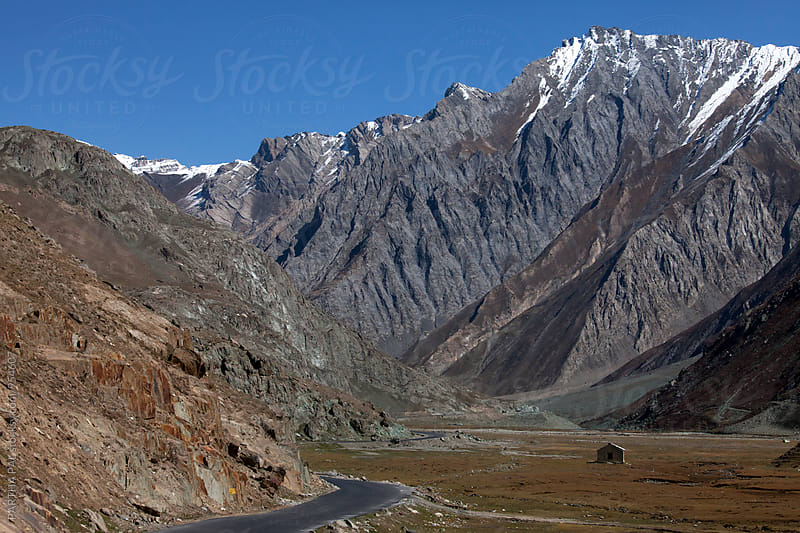 Barren and mountain landscape of Ladakh by PARTHA PAL for Stocksy United