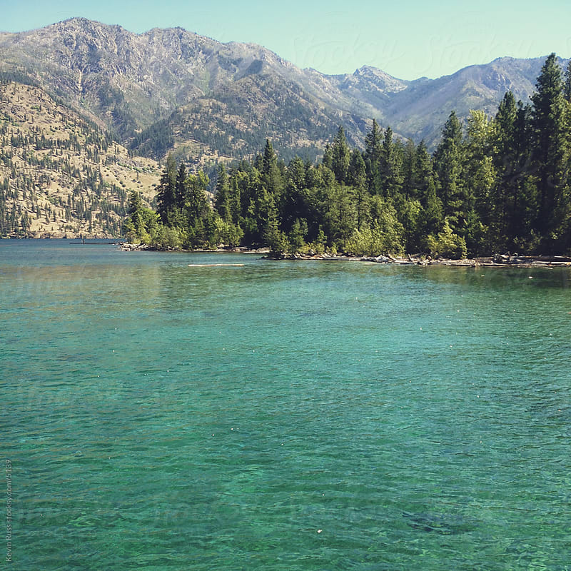 Turquoise Mountain Lake Water by Kevin Russ for Stocksy United
