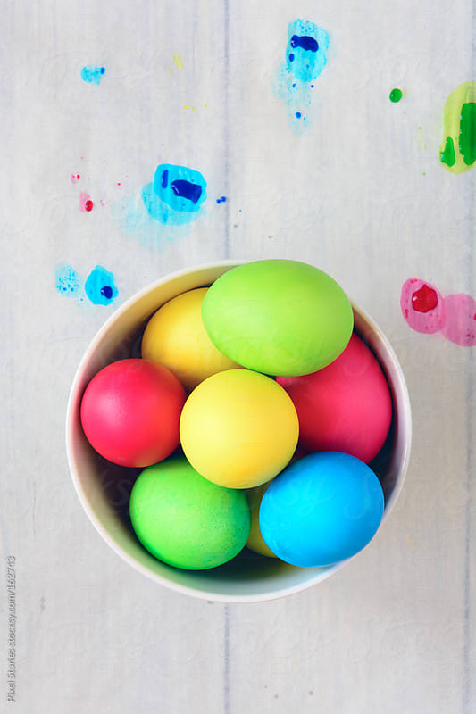 Colorful eggs for Easter by Pixel Stories for Stocksy United