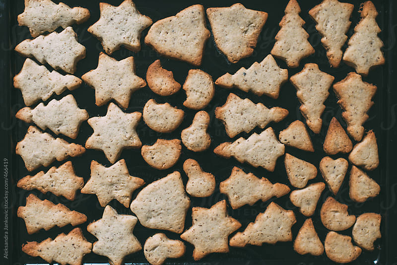 Baked Christmas cookies by Aleksandra Jankovic for Stocksy United