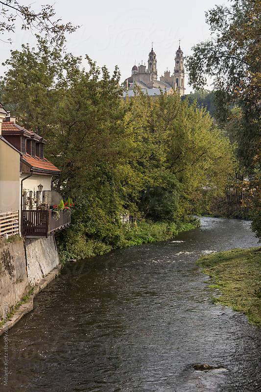 River Vilna passes by the Uzupio Res Publica in Vilnius by Melanie Kintz for Stocksy United