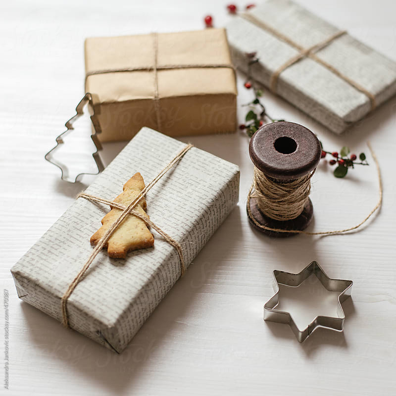 Elegant handmade Christmas wrapping by Aleksandra Jankovic for Stocksy United