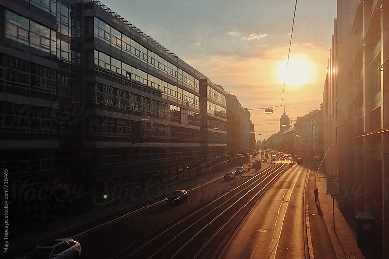 Sunset in Munich by Maja Topcagic for Stocksy United