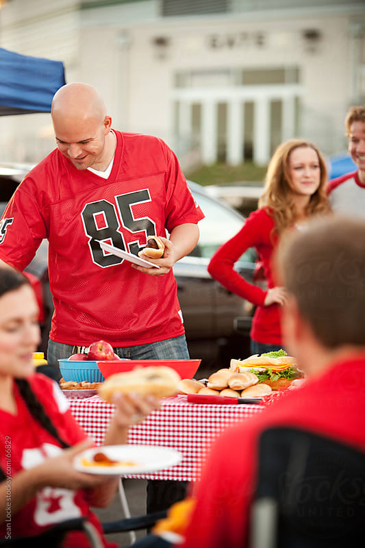 Tailgating: Everyone Enjoying Tailgate Party by Sean Locke for Stocksy United