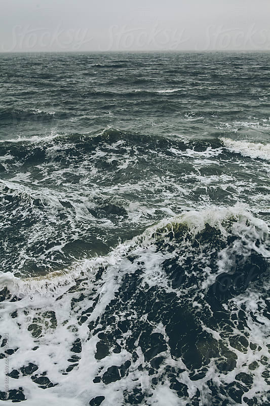 Stormy waves in the sea by kkgas for Stocksy United