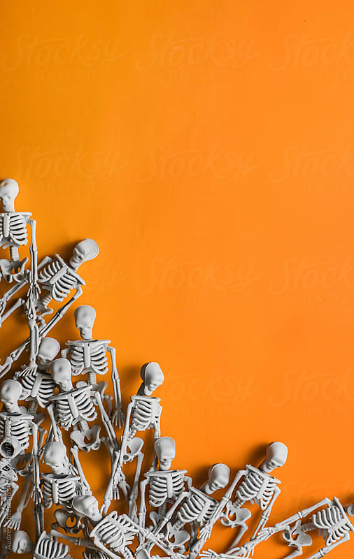 Human skeleton miniature/halloween. by Marko Milanovic for Stocksy United