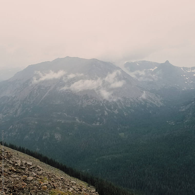 Mountains in the Mist by Alicia Magnuson Photography for Stocksy United