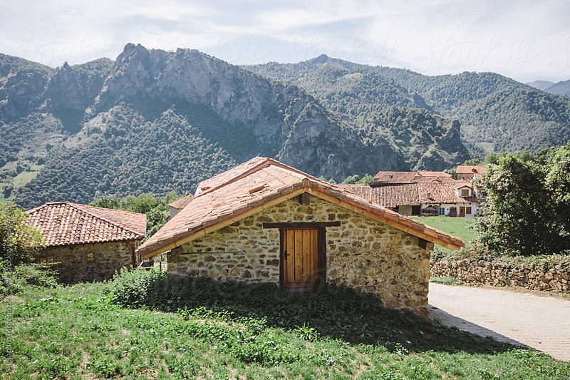 Houses in rural town or village on the mountains, Spain by Alejandro Moreno de Carlos for Stocksy United