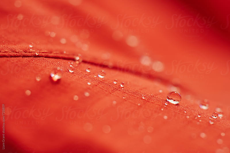 Waterproof fabric of a hardshell mountaineering jacket. by Liam Grant for Stocksy United
