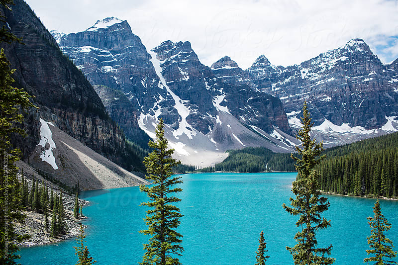 Beautiful Moraine lake in Banff National park, Canada by Kristen Curette Hines for Stocksy United