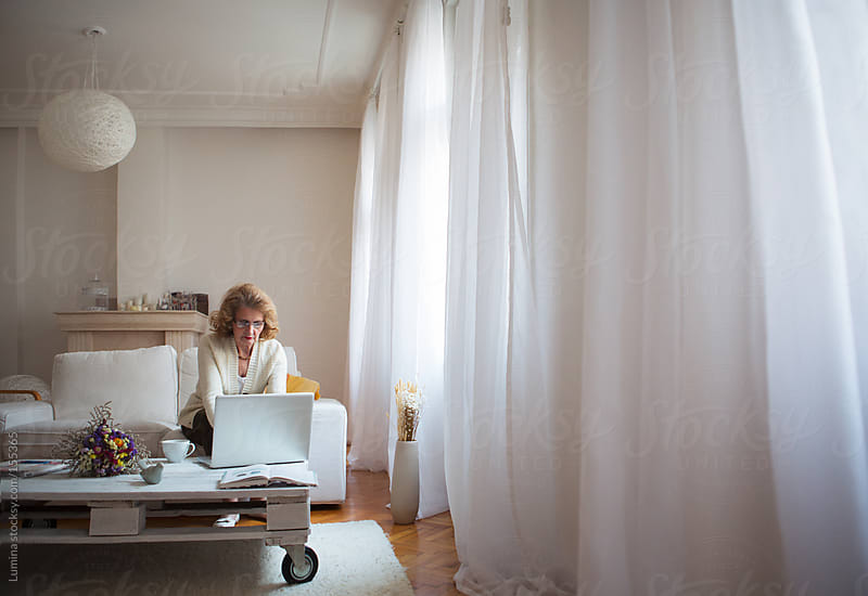 Senior Woman Using Her Laptop by Lumina for Stocksy United