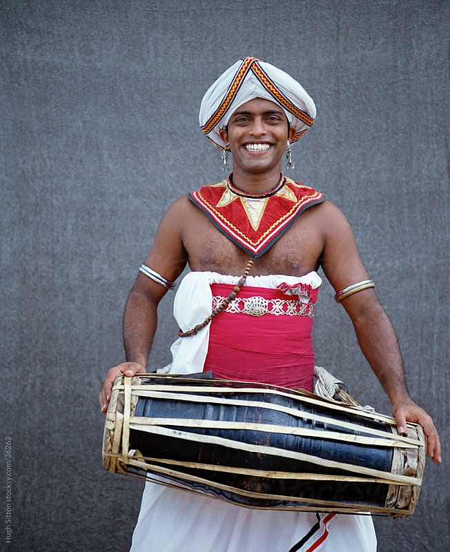 Portrait of Kandyan Dancer by Hugh Sitton for Stocksy United