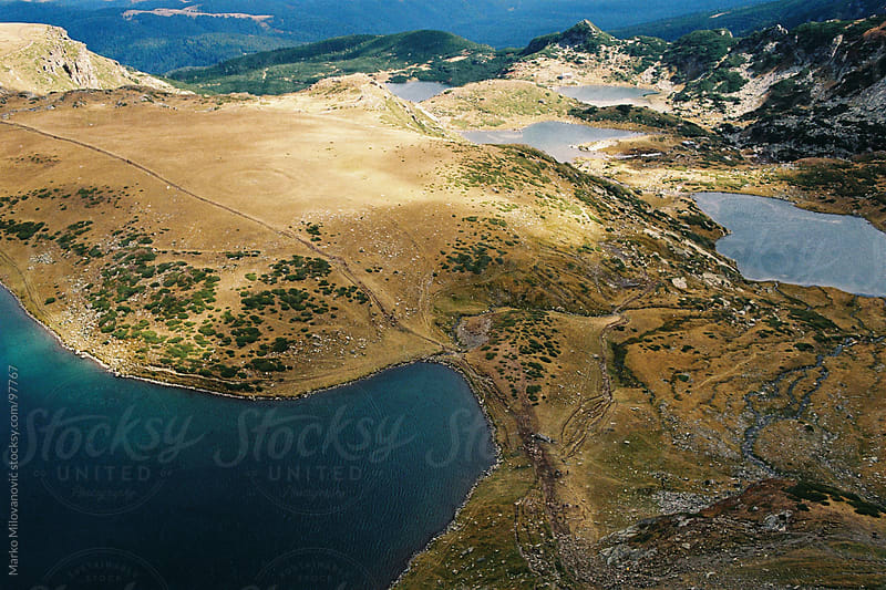 Lakes in Rila mountain by Marko Milovanović for Stocksy United