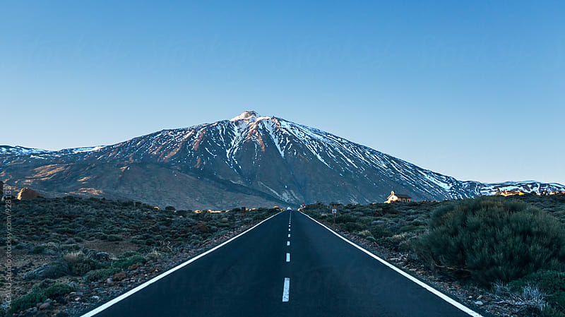 Road to the volcano Teide National Park by ACALU Studio for Stocksy United
