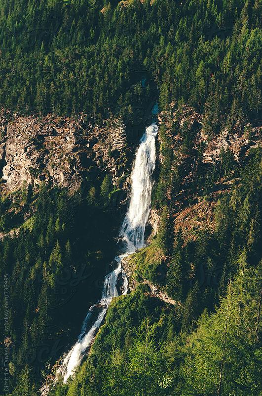 Niederthai waterfall  by Dimitrije Tanaskovic for Stocksy United