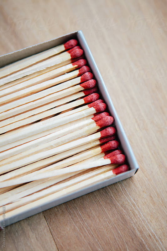 Matchstick in paper box by Zocky for Stocksy United