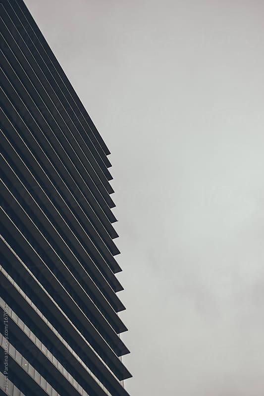 view of a skyscraper in Barcelona by Javier Pardina for Stocksy United