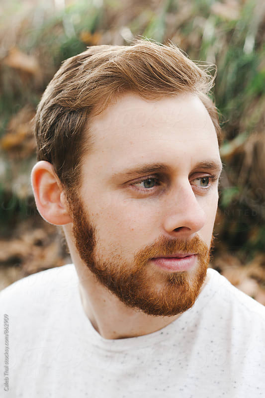 A Portrait of a Redheaded Man. by Caleb Thal for Stocksy United