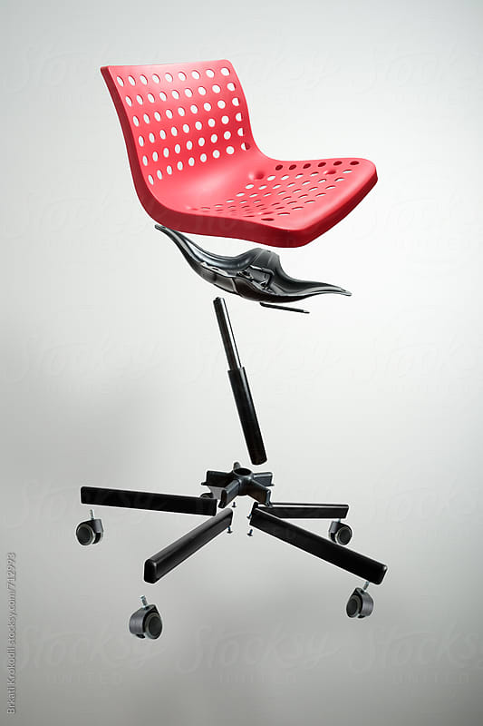 Disassembled Red Chair by Branislav Jovanović for Stocksy United