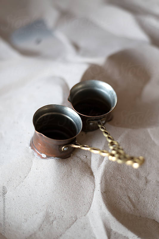 Preparing Turkish coffee by Pixel Stories for Stocksy United