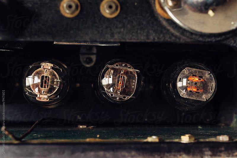 Vacuum tubes in a vinyl record cutting machine by Gabriel (Gabi) Bucataru for Stocksy United
