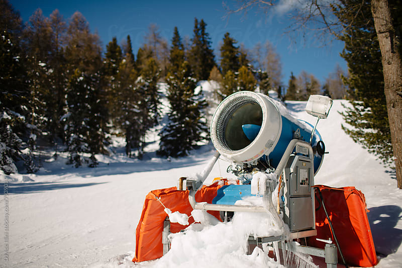 Snow machine by Davide Illini for Stocksy United