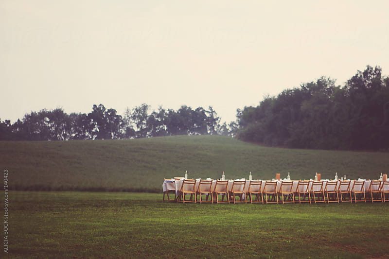 Dinner Table In A Field by ALICIA BOCK for Stocksy United