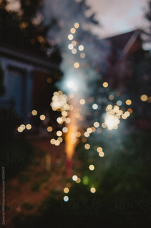 Fireworks Fountain Bokeh by Cameron Whitman for Stocksy United
