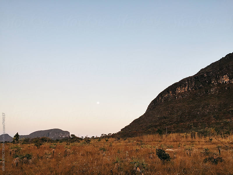 Full Moon Over Brazilian National Park - Chapada dos Veadeiros, Goias by Julien L. Balmer for Stocksy United