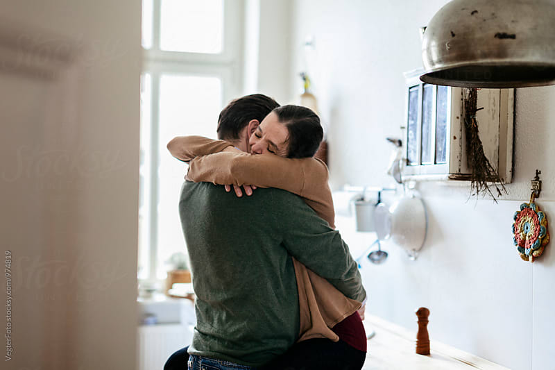 Mature Couple embracing  by VegterFoto for Stocksy United