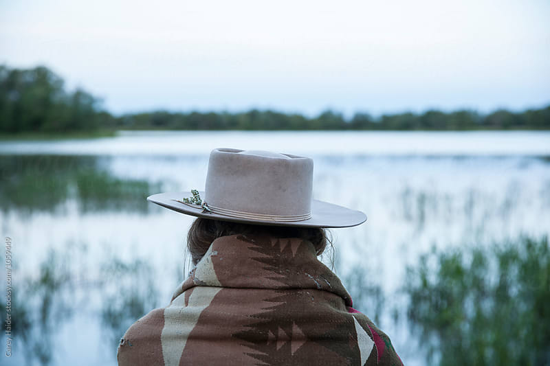 Womans Back Side At A Lake by Carey Haider for Stocksy United