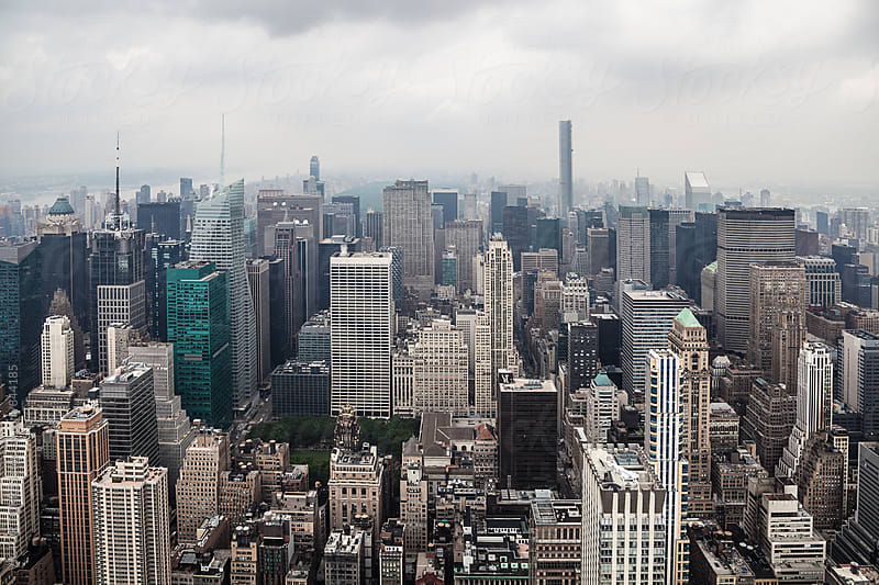 Manhattan Skyline in an Overcast Day by VICTOR TORRES for Stocksy United