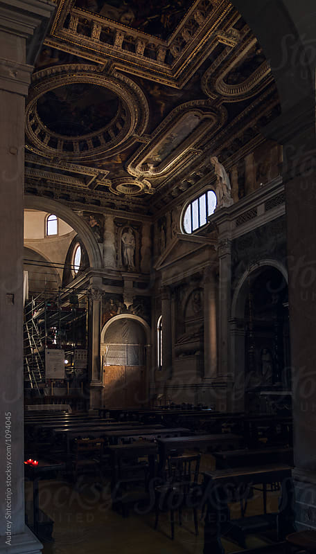 Church of Saint Sebastian(Chiesa di San Sebastiano)/interior decorations and paintings made by the artist Paolo Veronese (1528 – 1588.) Venice/Italy. by Audrey Shtecinjo for Stocksy United