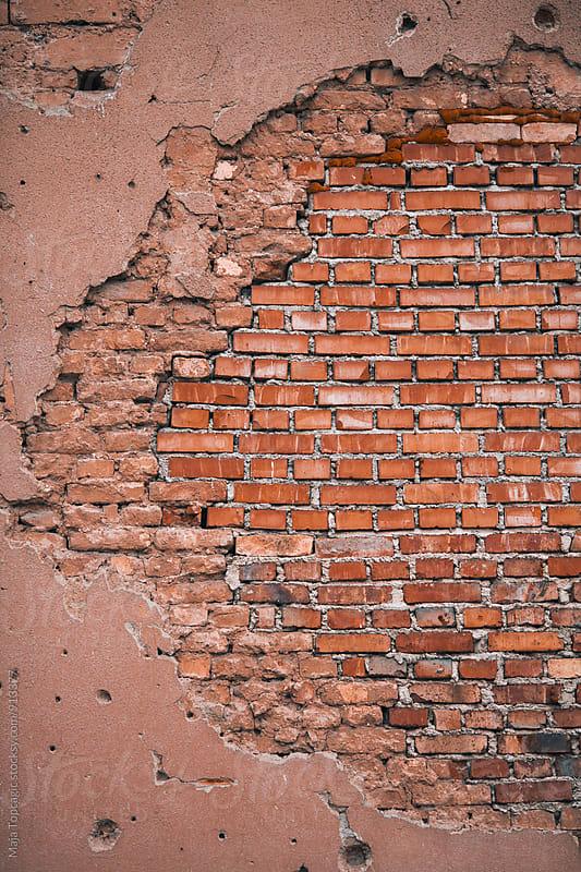 Red brick wall by Maja Topcagic for Stocksy United