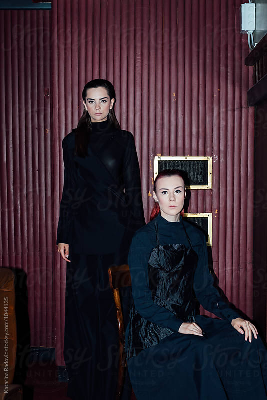 Two Female Fashion Models  by Katarina Radovic for Stocksy United