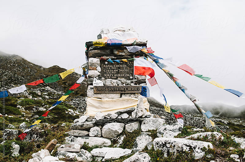 Memorial to dead climbers, Everest Region, Sagarmatha National Park, Nepal. by Thomas Pickard for Stocksy United