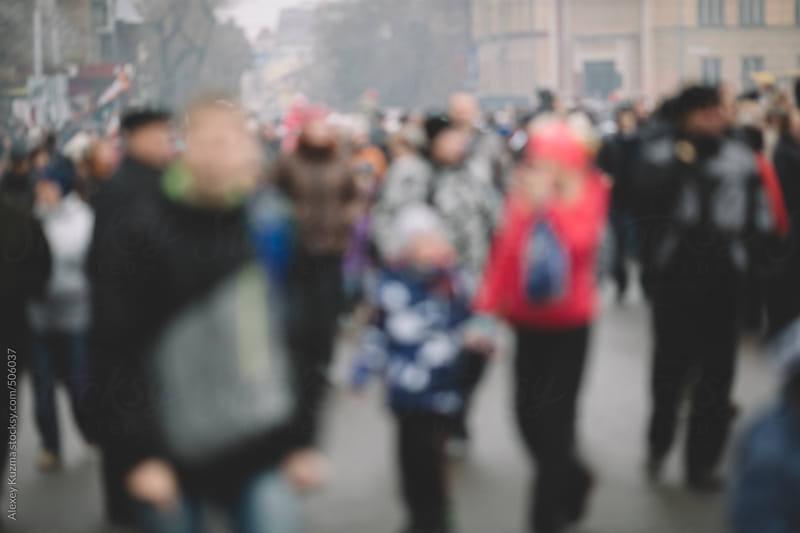 crowd on the street by Alexey Kuzma for Stocksy United