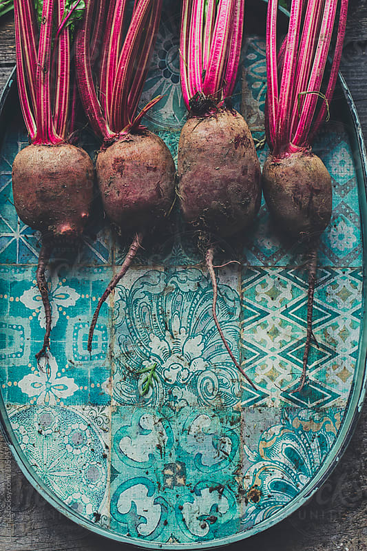Beetroots on a Old Tray by Lumina for Stocksy United