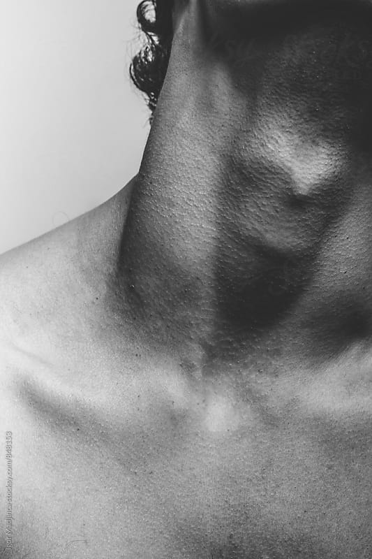 sexy handsome young man neck by Igor Madjinca for Stocksy United