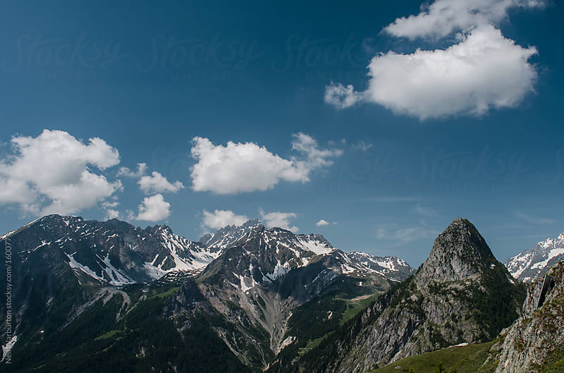 Alpine Landscape on a Clear Day by Neil Warburton for Stocksy United