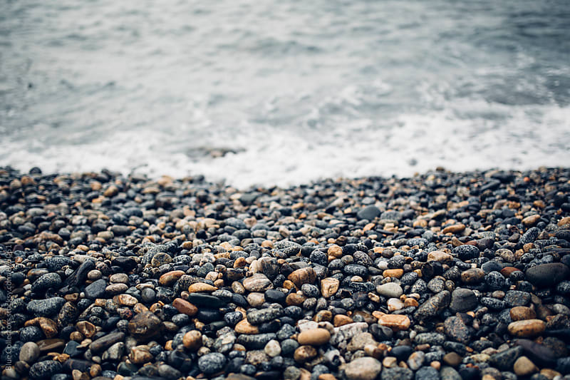 Close up rocky coast by Jordi Rulló for Stocksy United