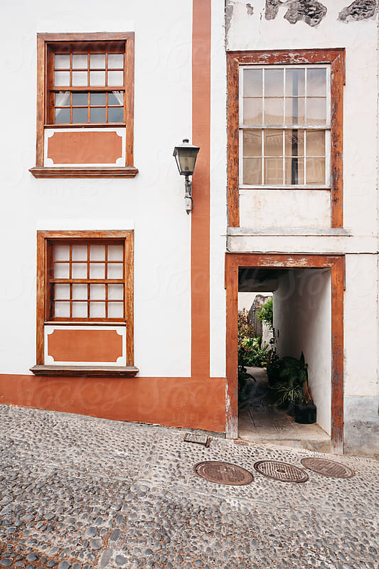 Building and alleyway. La Palma, Canary Island. by Liam Grant for Stocksy United